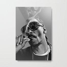 Snoop Dogg smoking paiting Poster Rapper Music Artist Smoking Weed Photo Poster Metal Print