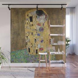 The Kiss by Gustav Klimt Wall Mural