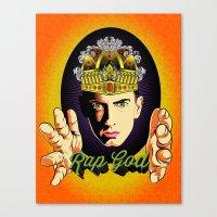 rap Canvas Prints featuring Rap God by RJ Artworks