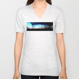 Cave from clouds.  Unisex V-Neck