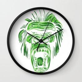 GORILLA KING KONG - Green Wall Clock