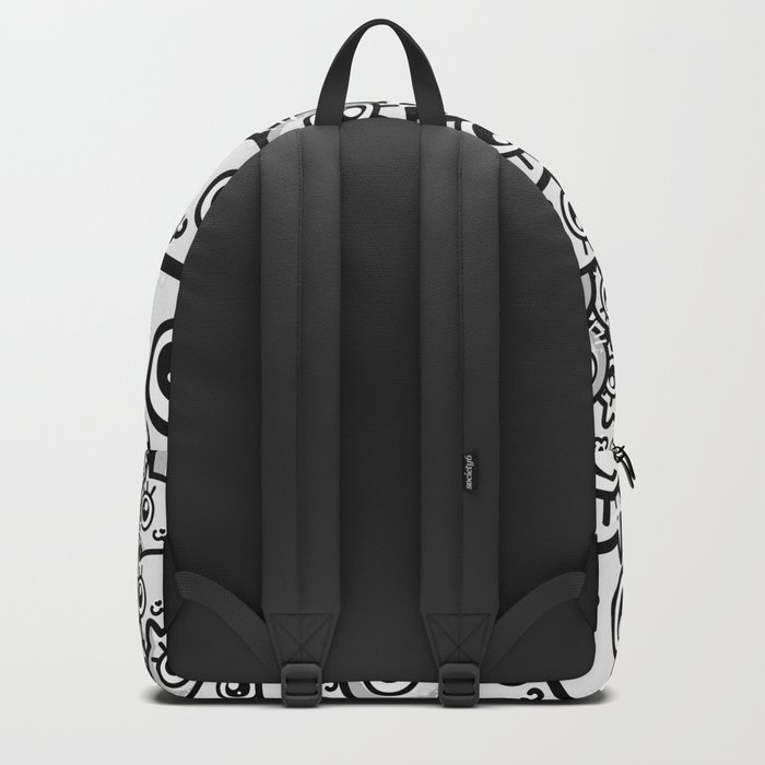 Crazy Cat Lady Dreams (in b/w) Backpack