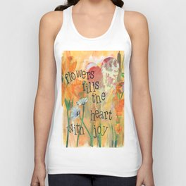 Flowers and Joy by Seattle Artist Mary Klump Unisex Tank Top