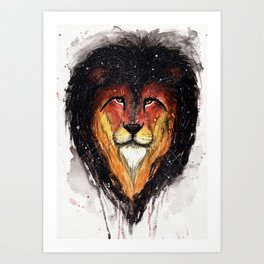 Fire Lion. Art Print