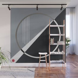 London - circle graphic Wall Mural