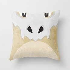 Minimalist Cubone Throw Pillow
