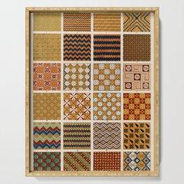 Egyptian Patterns, Vintage Design Serving Tray