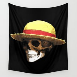 Straw Hat Zombie Wall Tapestry