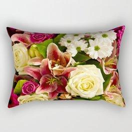 Bouquet Of Flowers Rectangular Pillow