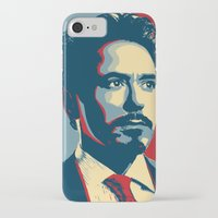 tony stark iPhone & iPod Cases featuring Tony Stark by Cadies Graphic