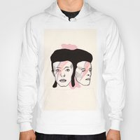 bowie Hoodies featuring Bowie by NikkiMaths