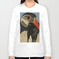 puffin Long Sleeve T-shirts featuring Puffin  by EmilyGrantDesign