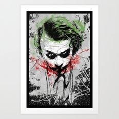 Joker - Heath Ledger Art Print