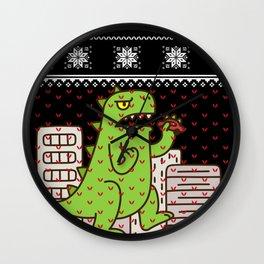 Godzilla Ugly Christmas Wall Clock