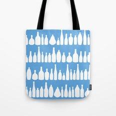 Bottles Blue Tote Bag