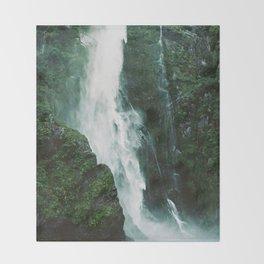 Milford Sound Waterfall Throw Blanket