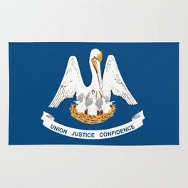 Louisiana State Flag Rug