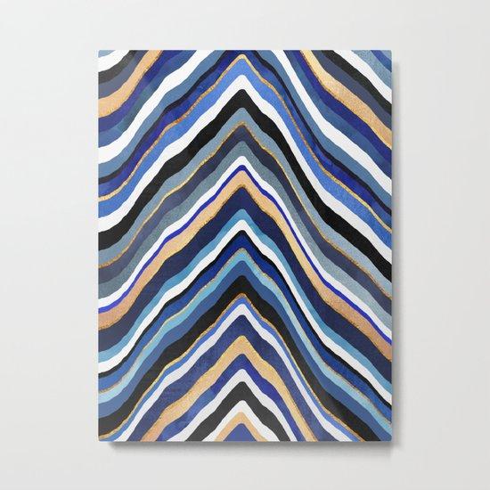 Blue Slice Metal Print