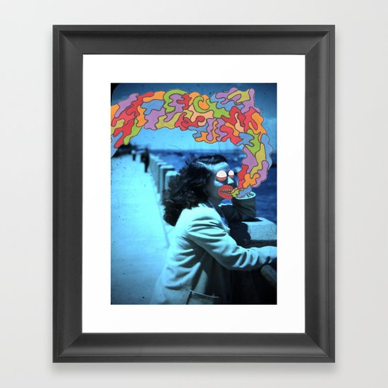 Hey Lilly. Framed Art Print