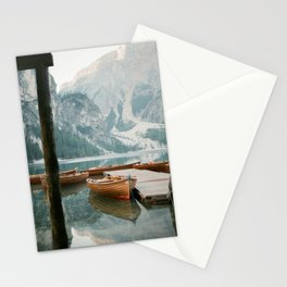 Lago di Braies | Fine art travel photography print Italy | Dolomites South Tirol Stationery Cards