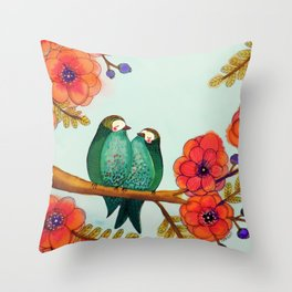 feather bellies Throw Pillow