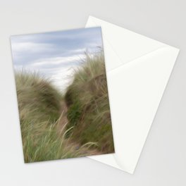 sand beach dunes pathway Stationery Cards