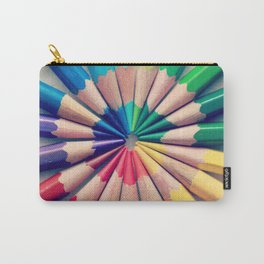Rainbow print Color pencils Modern photography Spectrum art School poster Carry-All Pouch