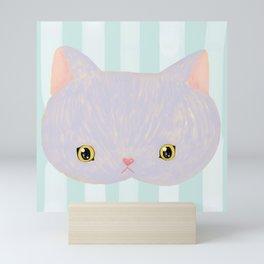 Russian Blue Cat Mini Art Print