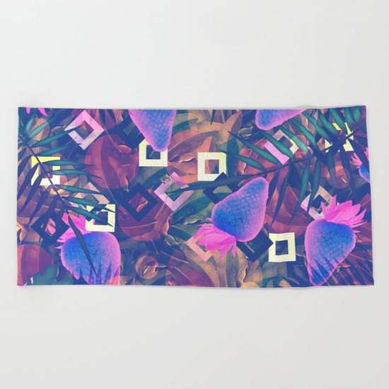 Fluorescent Vibe Beach Towel