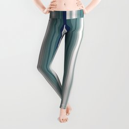 Vintage blue vertical stripes pattern Leggings