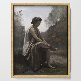 Jean-Baptiste-Camille Corot - The Wounded Eurydice Serving Tray
