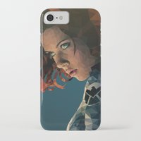 black widow iPhone & iPod Cases featuring Black Widow by Chelsea Lindsay