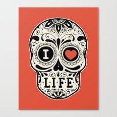 I Love Life Canvas Print