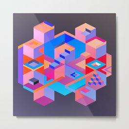 Cubic Inversion III Metal Print