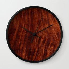 Beautiful Unique mahogany red wood veneer design Wall Clock