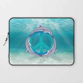 Dolphin Peace Laptop Sleeve