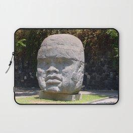 Olmeca head from Veracruz, Mexico Laptop Sleeve