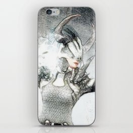 Ice skill by magician girl iPhone Skin