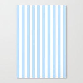 Classic Seersucker Stripes in Blue + White Canvas Print