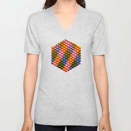 Shifting cubes Unisex V-Neck