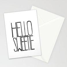Hello Sweetie - by Genu WORDISIAC™ TYPOGY™ Stationery Cards