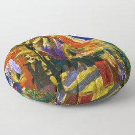 Fourteenth of July Celebration in Paris by Vincent van Gogh Floor Pillow