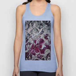 Dark Magenta Vintage Distressed Abstract Unisex Tank Top