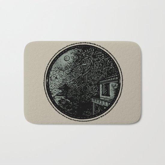 Miniature Circle Landscape 1: Morning Vision Bath Mat