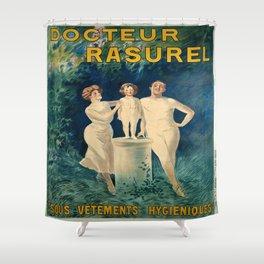 Vintage poster - Docteur Rasurel Shower Curtain