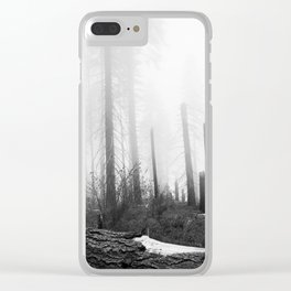 Misty Day at Sequoia National Park Clear iPhone Case