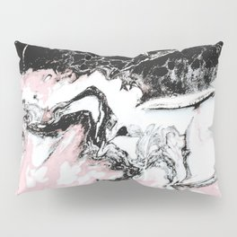 pink and black marble Pillow Sham