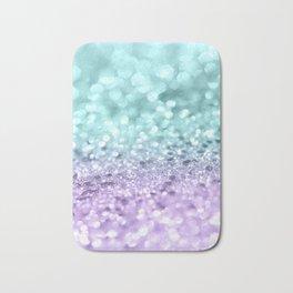 Aqua Purple MERMAID Girls Glitter #1 #shiny #decor #art #society6 Bath Mat