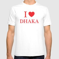 I Love Dhaka White Mens Fitted Tee SMALL