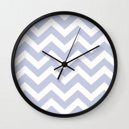 Light periwinkle - heavenly color - Zigzag Chevron Pattern Wall Clock